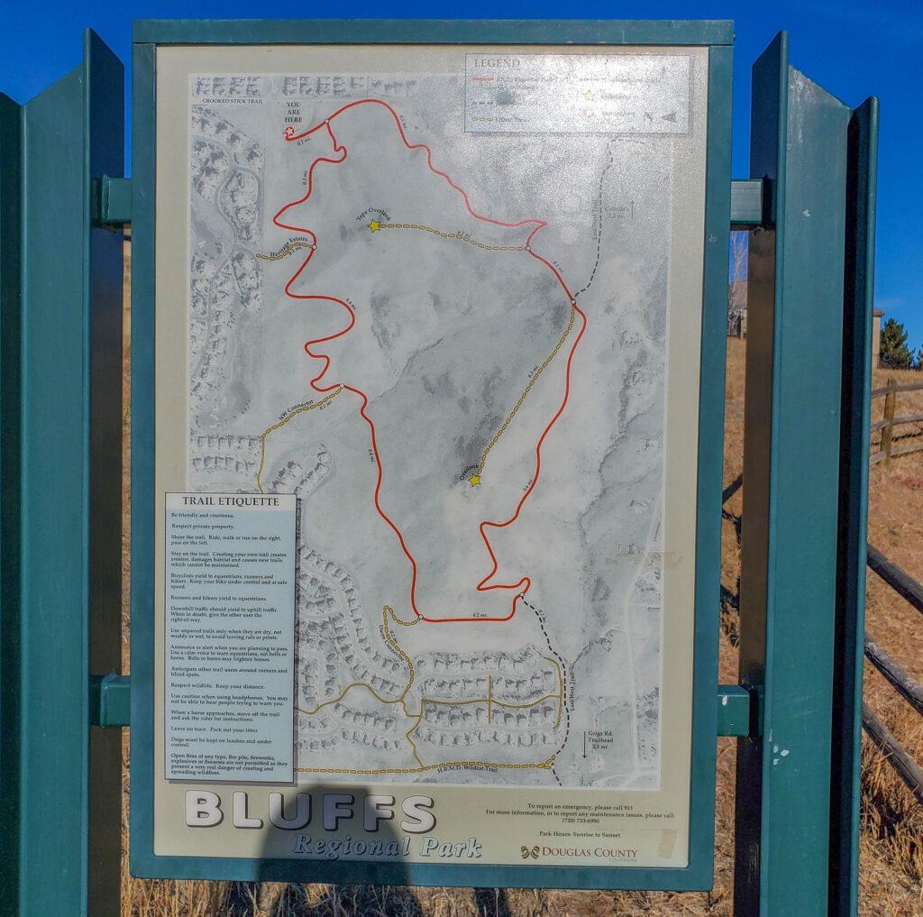 Bluffs Regional Park Trail Map