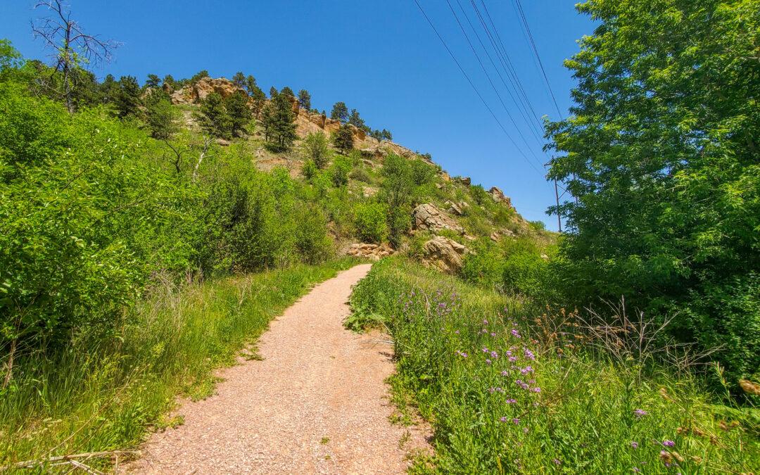 Picturesque mountain bike trail – Hanson-Larsen Memorial Park in Rapid City SD