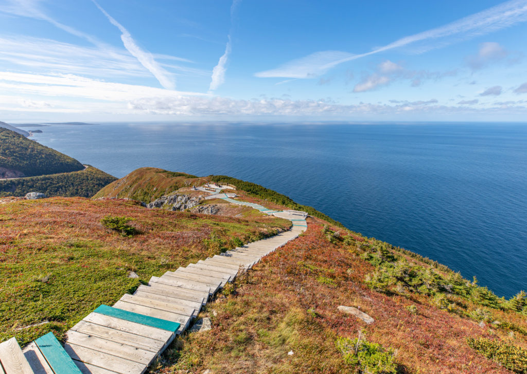 Top of Skyline Trail on Cape Breton Island