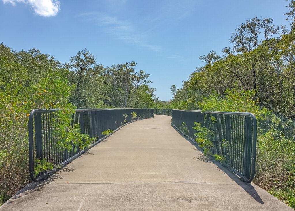 Boardwalk into Clam Bayou