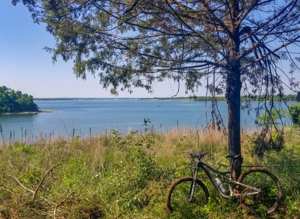 View of Smithville Lake from Mountain Bike Trails