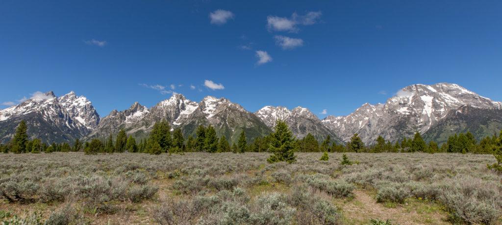 Teton Mountains in Grand Teton National Park